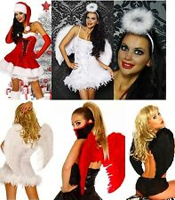 Sexy Christmas Costume Angel fancy dress Wings Size XS S M L XL