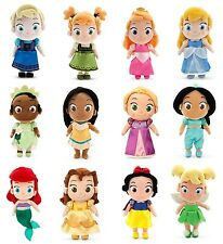 DisneyStore Toddler Princess Small Plush Doll Belle Anna Elsa Rapunzel (1pc)