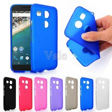 Matte Frosted Soft TPU Back Case Cover for LG Google Nexus 5X + Free Screen Film