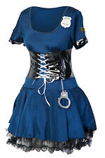 Sexy Police women fancy dress costume ladies cop outfit  8 10 12