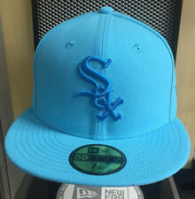 New Era 5950 59Fifty Chicago White Sox Neon Blue Fitted Cap Various Sizes