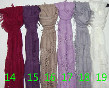 high quality Women Fashion Candy Colour Long Soft Scarf Wrap Shawl Stol  //CH ab