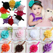 New Lots Flower Cute Baby Girls Toddler Head Hair Bow Band Headwear Accessories