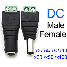 2/10/50/x DC Power Jack Adapter Plug Male Female Connector 2.1x5.5 mm for CCTV