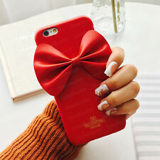 3D Bowknot Cute Lovely Leather Hard Case Cover For iPhone 6 6Plus 6S Plus