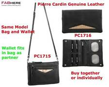 Pierre Cardin Womens RFID Italian Genuine Leather Wallet with Companion Bag New
