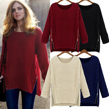 New Womens Tops Ladies Jumpers Cardigans Long Sleeve Pullover Tops Knit Sweater