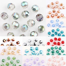 100AB Plated Charm Crystal Glass Round Loose Spacer Bead Craft DIY 4mm 23 Colors