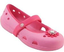 NEW Girl's Toddlers CROCS Pink Flower Fashion Clogs Slip On Casual Comfort Shoes