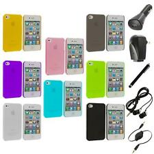 0.3mm Color Super Ultra Thin Hard Frost Case Skin+Accessories for iPhone 4 4G 4S