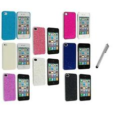 Bling Glitter Sparkly Ultra Thin Hard Back Cover+Metal Pen for iPhone 4 4G