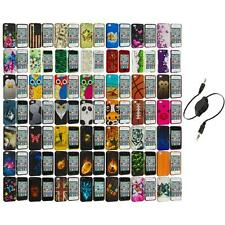 Design Hard Rubberized Color Snap-On Case Cover+Aux Cable for iPhone 4 4S 4G