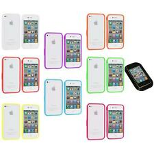 Bumper TPU Solid Jelly Color Rubber Skin Case+Sticky Pad for iPhone 4 4S 4G
