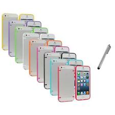 Color Clear Robot Crystal Hard Snap-On Case Cover+Metal Pen for iPhone 5 5S