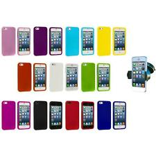 Hard Snap-On Rubberized Case Cover Accessory+Windshield Mount for iPhone 5 5S