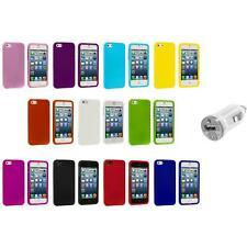 Hard Snap-On Rubberized Case Skin Cover Accessory+USB Charger for iPhone 5 5S