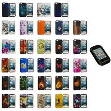 For iPhone 5S 5 5G Hard Snap-On Design Rubberized Case Cover Skin+Sticky Pad