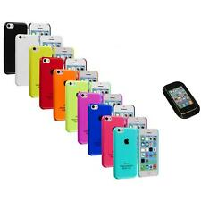 For iPhone 5C Crystal Hard Snap-On Ultra Thin Back Case Cover+Sticky Pad