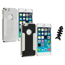 For Apple iPhone 6 (4.7) Brushed Aluminum Metal Hard Case Cover Cable Wrap