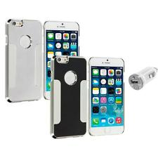 For Apple iPhone 6 (4.7) Brushed Aluminum Metal Hard Case Cover USB Charger