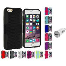 For Apple iPhone 6 (4.7) Hybrid Mesh Case Cover Accessory USB Charger
