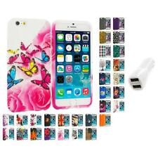 For Apple iPhone 6 (4.7) TPU Design Soft Case Cover Skin Car Charger