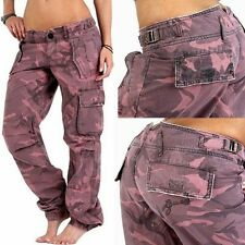 GUESS JEANS Pink-Camouflage Cargo Pants,Boyfriend Loose-Fit,sz.W 25,26,27,28 New