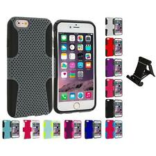 For Apple iPhone 6 Plus (5.5) Hybrid Mesh Shockproof Case Cover Stand Mount