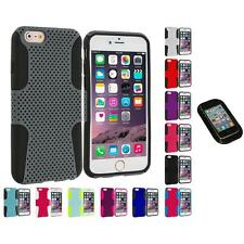 For Apple iPhone 6 Plus (5.5) Hybrid Mesh Shockproof Case Cover Sticky Pad