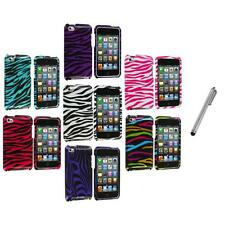 Zebra Design Hard Case Cover Accessory+Metal Pen for iPod Touch 4th Gen 4G 4