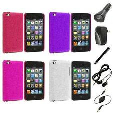 Color Bling Glitter Hard Cover Case+Accessories for iPod Touch 4th Gen 4G