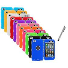 Deluxe Hybrid Case Cover+Protector+Metal Pen for iPod Touch 4th Gen 4G 4
