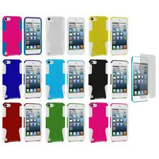 Hybrid Mesh Hard/Soft Case Cover+Screen Protector for iPod Touch 5th Gen 5 5G