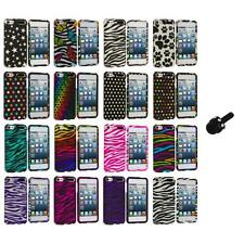 Zebra Polka Dot Hard Design Case Cover+Mini Stylus for iPod Touch 5th Gen 5G