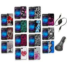 Design Hard Snap-On Rubberized Case Cover+Aux+Charger for Blackberry Z10 Phone