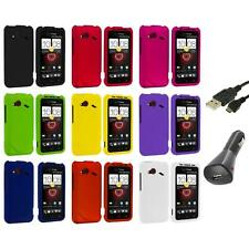 Color Hard Case Cover Accessory+Charger+USB for HTC Droid Incredible 4G LTE