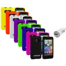 Color Silicone Gel Soft Case Cover+USB Charger for HTC Sprint EVO 4G Accessory