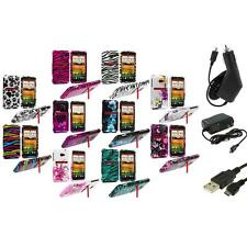 Design Hard Snap-On Case Cover Accessory+3X Chargers for HTC EVO 4G LTE Sprint