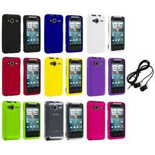 Color Hard Snap-On Case Cover+Headphones for HTC EVO Shift 4G Phone Accessory