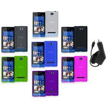 Color TPU Plain Case Cover Accessory+Charger for HTC Windows Phone 8S