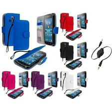 For Kyocera Hydro Life Wallet Flip Pouch Case Cover Accessory Aux Cable