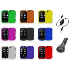 For Sprint Kyocera Milano C5120 Color Hard Snap-On Skin Case Cover+Aux+Charger
