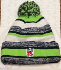 NEW ERA NFL SEATTLE SEAHAWKS ON FIELD NAVY BLUE LIME GREEN KNIT BEANIE HAT