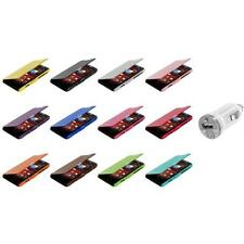 For Motorola Droid Razr M XT907 Magnetic Wallet Case Cover Pouch+USB Charger