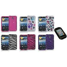 Color Bling Diamond Rhinestone Case Cover+Sticky Pad for Pantech Discover P9090
