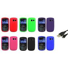 Color Silicone Rubber Gel Case Cover+USB Cable for Pantech Link II 2 P5000