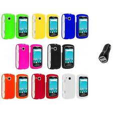 Color Hard Snap-On Skin Case Cover+2A Charger for Samsung Doubletime I857 Phone