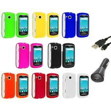 Color Hard Snap-On Skin Case Cover+Charger+USB for Samsung Doubletime I857 Phone