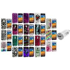 Design Hard Case Cover+USB Charger for Samsung Epic Touch 4G Sprint Galaxy S2