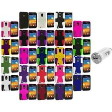 Hybrid Mesh Case Cover+USB Charger for Samsung Sprint Galaxy S2 S II Epic Touch